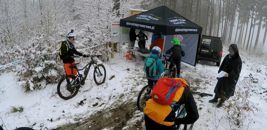 To samo miejsce w dzień zawodów Enduro Trails Bielsko-Biała