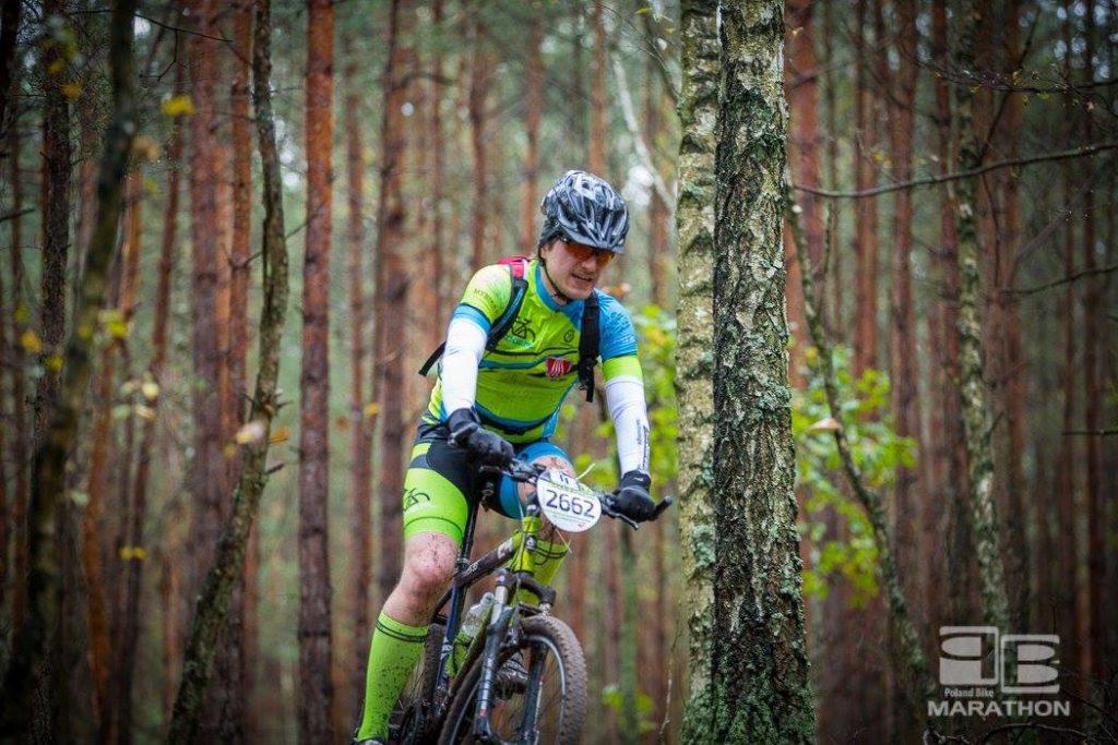 Maciek na trasie Poland Bike w Wawrze