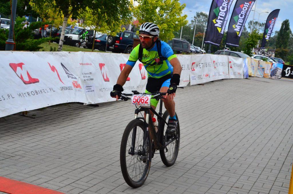 MTBCross Maraton w Kielcach - Maciek na mecie