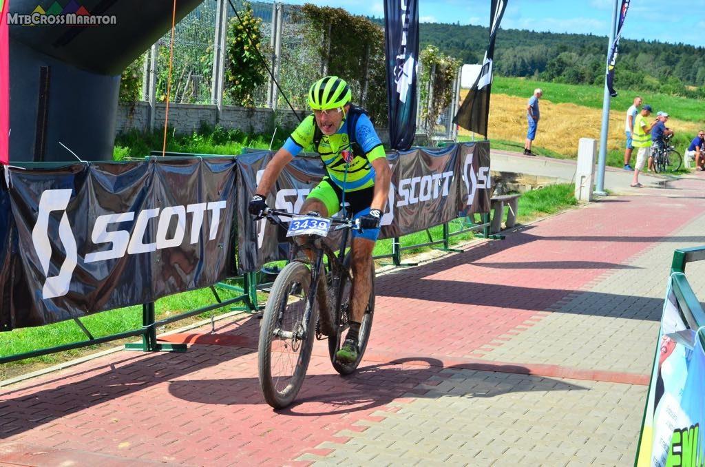 Krzysztof na finiszu w Baćkowicach